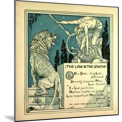 The Lion and the Statue--Mounted Giclee Print
