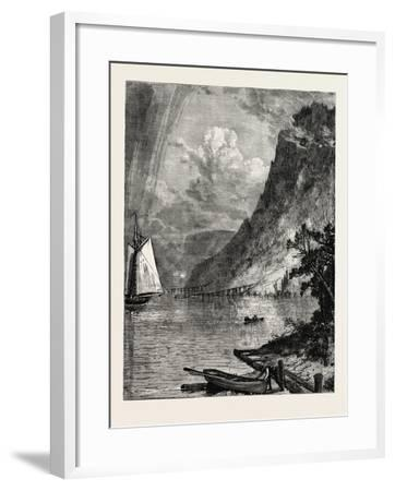 American River Scenery: on the Hudson, USA, 1870S--Framed Giclee Print
