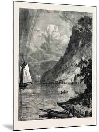 American River Scenery: on the Hudson, USA, 1870S--Mounted Giclee Print