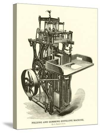 Folding and Gumming Envelope Machine, by S Raynor and Company--Stretched Canvas Print