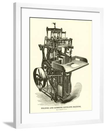 Folding and Gumming Envelope Machine, by S Raynor and Company--Framed Giclee Print
