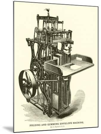 Folding and Gumming Envelope Machine, by S Raynor and Company--Mounted Giclee Print