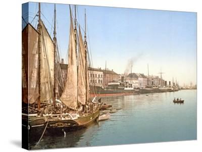 View of Havnegade, Copenhagen, Pub. 1900--Stretched Canvas Print