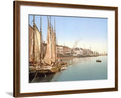 View of Havnegade, Copenhagen, Pub. 1900--Framed Giclee Print