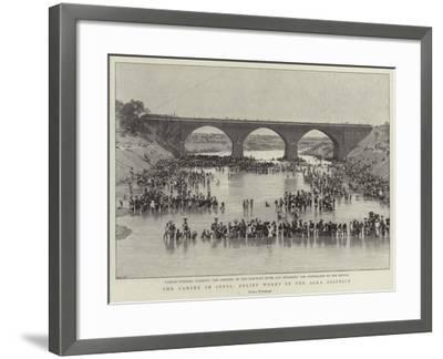 The Famine in India, Relief Works in the Agra District--Framed Giclee Print