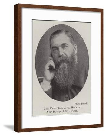 The Very Reverend J G Holmes, New Bishop of St Helena--Framed Giclee Print