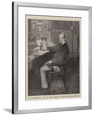 Dr Garnett, Cb, in His Room at the British Museum--Framed Giclee Print
