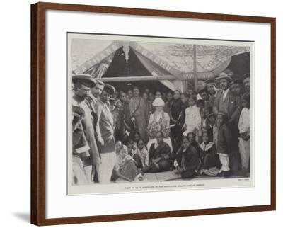 Visit of Lady Northcote to the Portuguese Health-Camp at Bombay--Framed Giclee Print