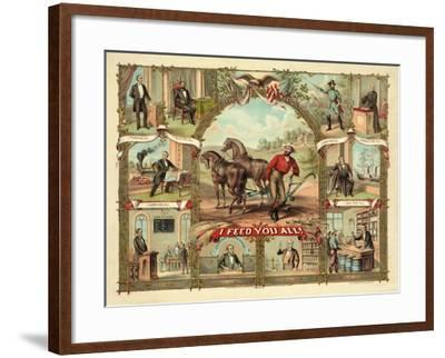 I Feed You All!, Published C.1875--Framed Giclee Print