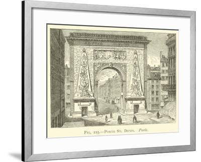 Porte St Denis, Paris--Framed Giclee Print