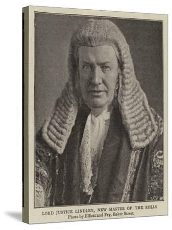 Lord Justice Lindley, New Master of the Rolls--Stretched Canvas Print