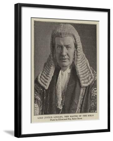 Lord Justice Lindley, New Master of the Rolls--Framed Giclee Print