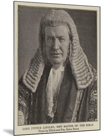 Lord Justice Lindley, New Master of the Rolls--Mounted Giclee Print