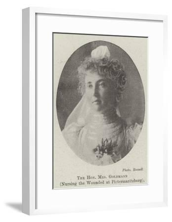 The Honourable Mrs Goldmann, Nursing the Wounded at Pietermaritzburg--Framed Giclee Print