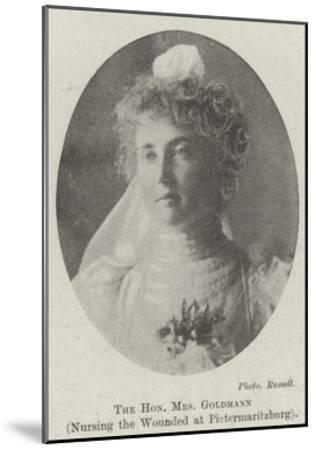 The Honourable Mrs Goldmann, Nursing the Wounded at Pietermaritzburg--Mounted Giclee Print