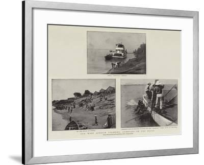 Our West African Colonies, Gunboats on the Niger--Framed Giclee Print