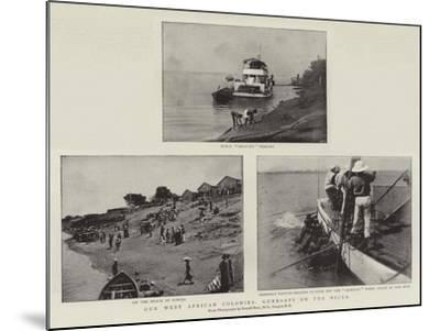 Our West African Colonies, Gunboats on the Niger--Mounted Giclee Print