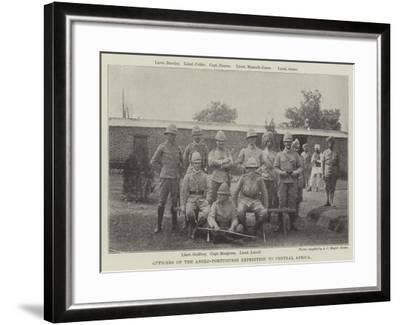 Officers of the Anglo-Portuguese Expedition to Central Africa--Framed Giclee Print