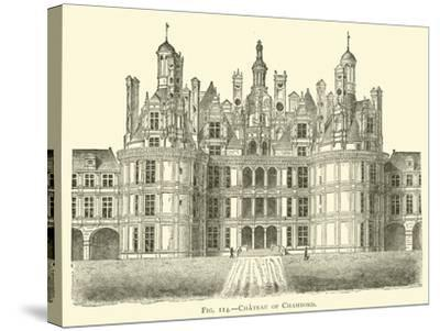 Chateau of Chambord--Stretched Canvas Print