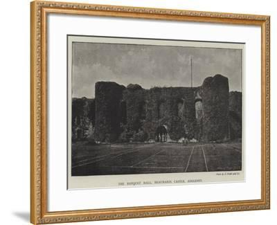 The Banquet Hall, Beaumaris Castle, Anglesey--Framed Giclee Print