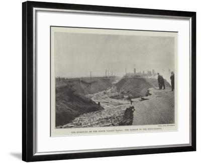 The Bursting of the Stour Valley Canal, the Damage to the Embankment--Framed Giclee Print
