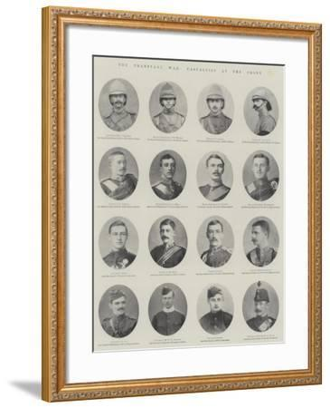 The Transvaal War, Casualties at the Front--Framed Giclee Print
