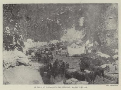 On the Way to Klondike, the Chilcoot Pass Route in 1898--Framed Giclee Print