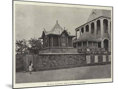 The War in Madagascar, Tombs of Radama I and Rasoherina--Mounted Giclee Print