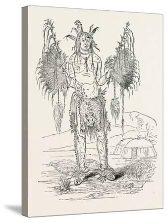 Indian Medicine Man, USA, 1870s--Stretched Canvas Print