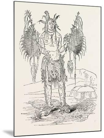 Indian Medicine Man, USA, 1870s--Mounted Giclee Print