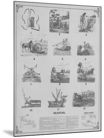 Agricultural Implements - Reapers, 1892--Mounted Giclee Print