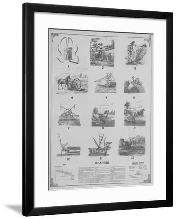 Agricultural Implements - Reapers, 1892--Framed Giclee Print