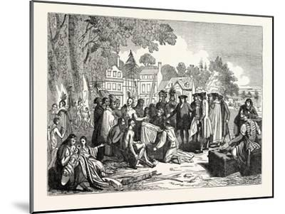 Penn's Treaty with the Indians--Mounted Giclee Print
