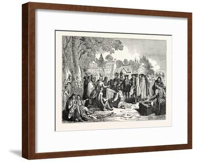 Penn's Treaty with the Indians--Framed Giclee Print