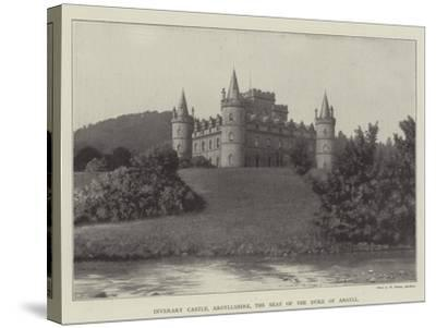 Inverary Castle, Argyllshire, the Seat of the Duke of Argyll--Stretched Canvas Print
