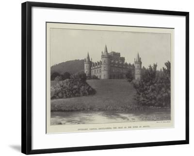 Inverary Castle, Argyllshire, the Seat of the Duke of Argyll--Framed Giclee Print