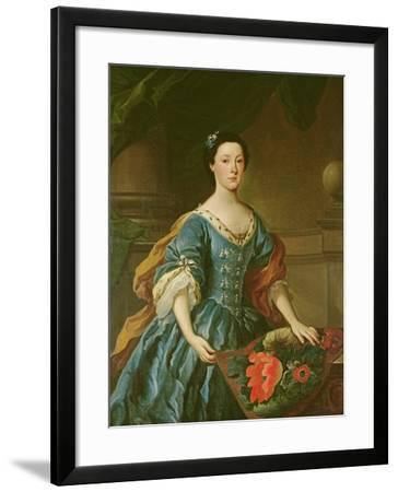 Portrait of Jane Allgood, C.1745-50--Framed Giclee Print