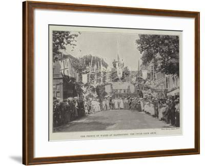 The Prince of Wales at Eastbourne, the Cycle Club Arch--Framed Giclee Print