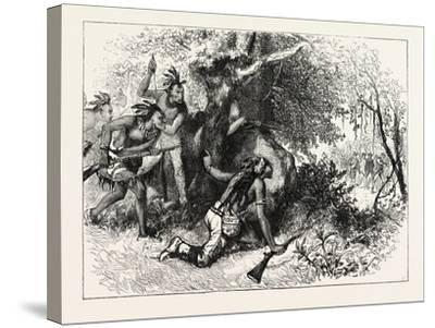 Treachery of the Cherokees, USA, 1870s--Stretched Canvas Print