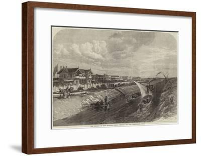 The Isthmus of Suez Maritime Canal, Ismailia and the Fresh-Water Canal--Framed Giclee Print