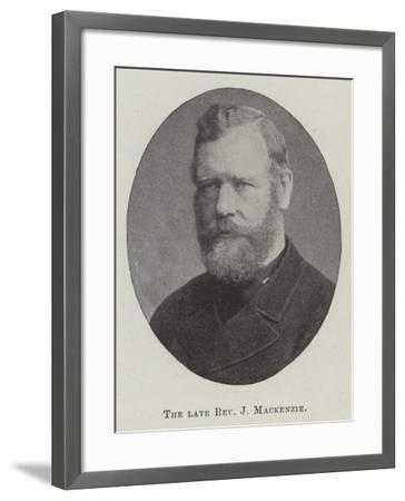 The Late Reverend J Mackenzie--Framed Giclee Print