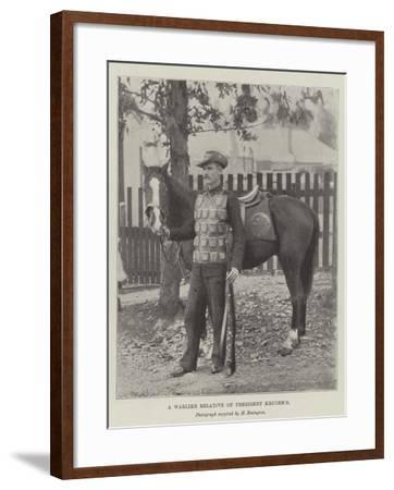 A Warlike Relative of President Kruger's--Framed Giclee Print