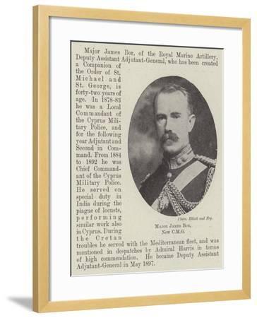 Major James Bor--Framed Giclee Print