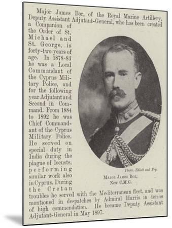 Major James Bor--Mounted Giclee Print