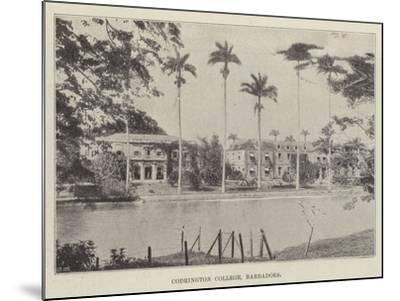 Codrington College, Barbadoes--Mounted Giclee Print