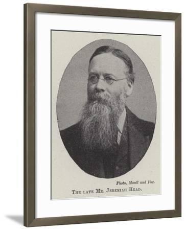 The Late Mr Jeremiah Head--Framed Giclee Print