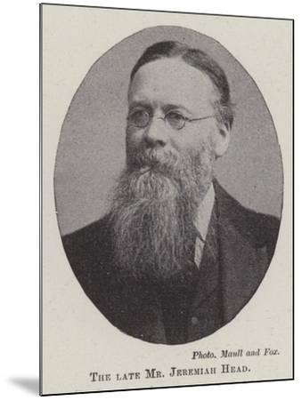 The Late Mr Jeremiah Head--Mounted Giclee Print