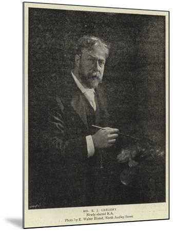 Mr E J Gregory--Mounted Giclee Print