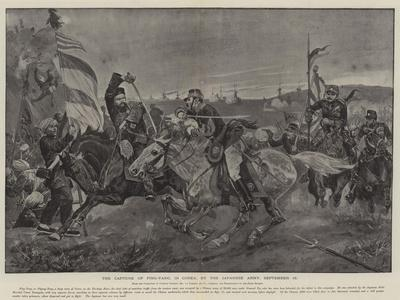 The Capture of Ping-Yang, in Corea, by the Japanese Army, 16 September--Framed Giclee Print