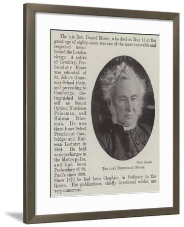 The Late Prebendary Moore--Framed Giclee Print